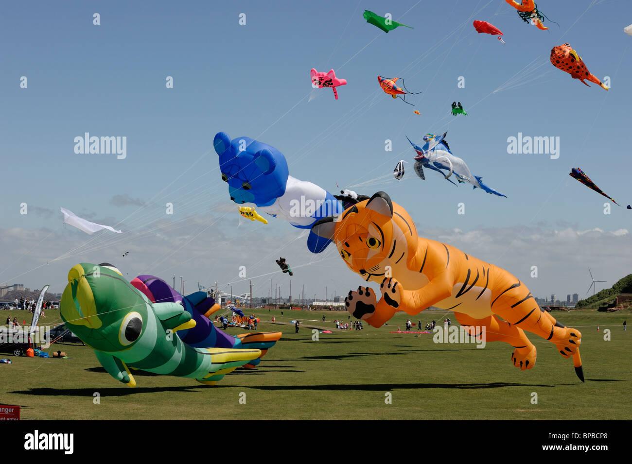 Wirral International Kite Festival, New Brighton 2010 - Stock Image