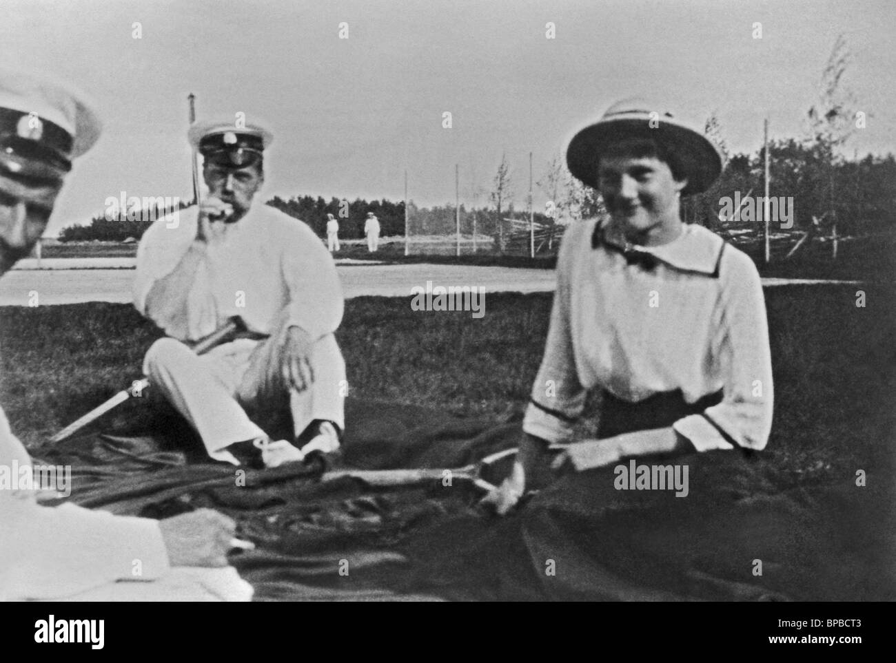 Emperor Nicholas II and Grand Duchess Tatiana, 1913 Stock Photo