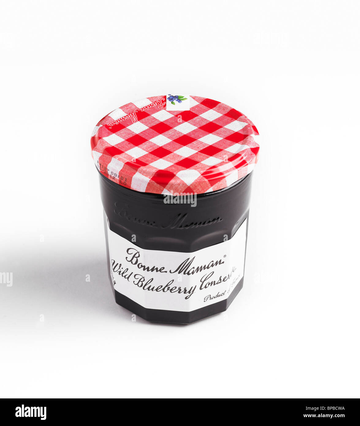 Bonne Maman Brand Wild Blueberry Conserve Packaging - Stock Image