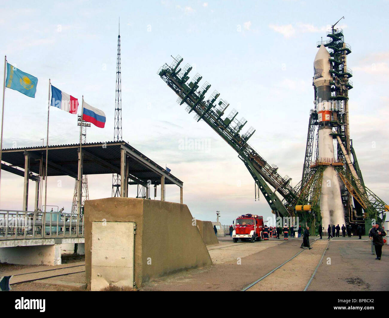 Venus Express, first ESA Venus exploration mission, launched from Baikonur Cosmodrome - Stock Image