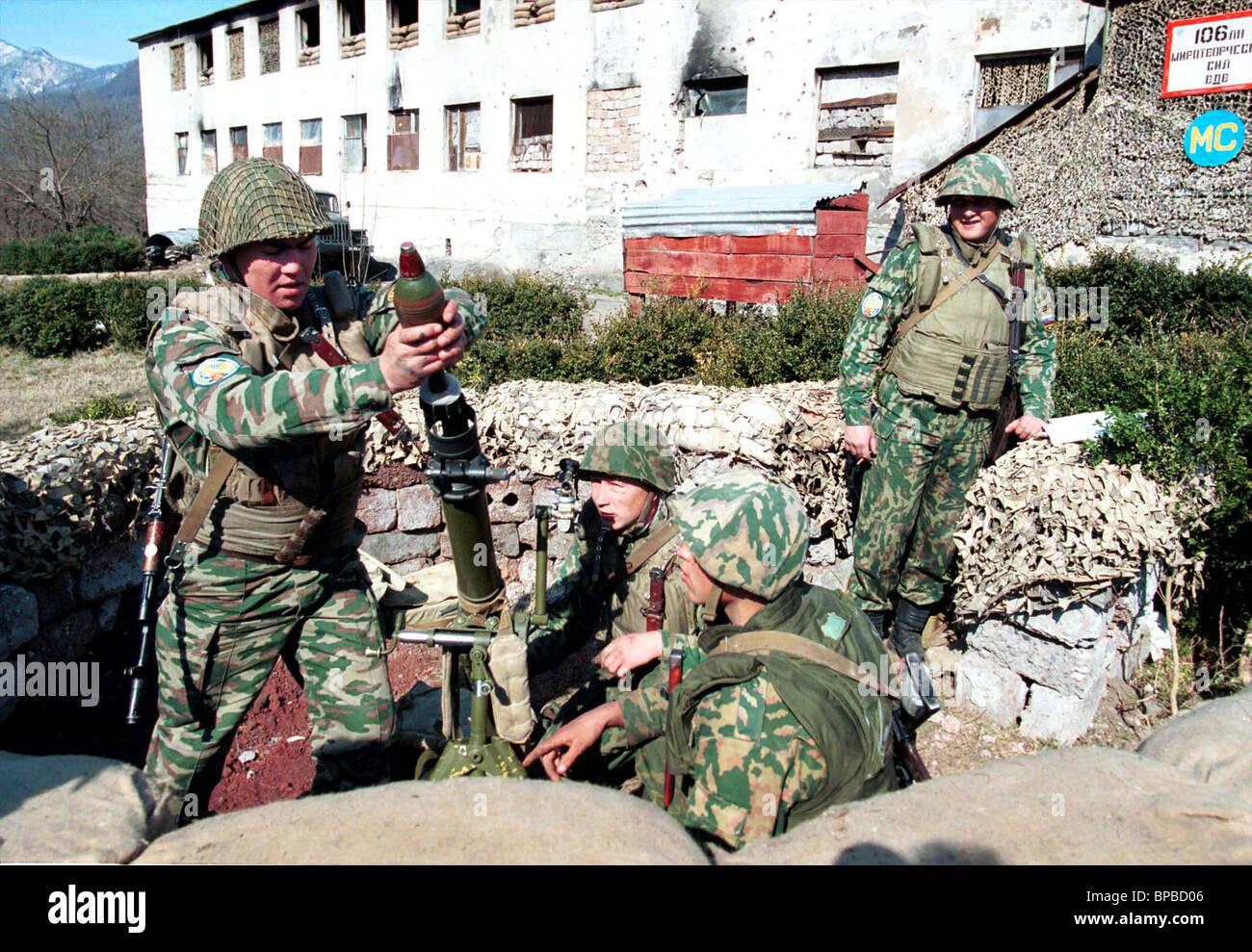 Russian peacekeepers in Abkhazia - Stock Image