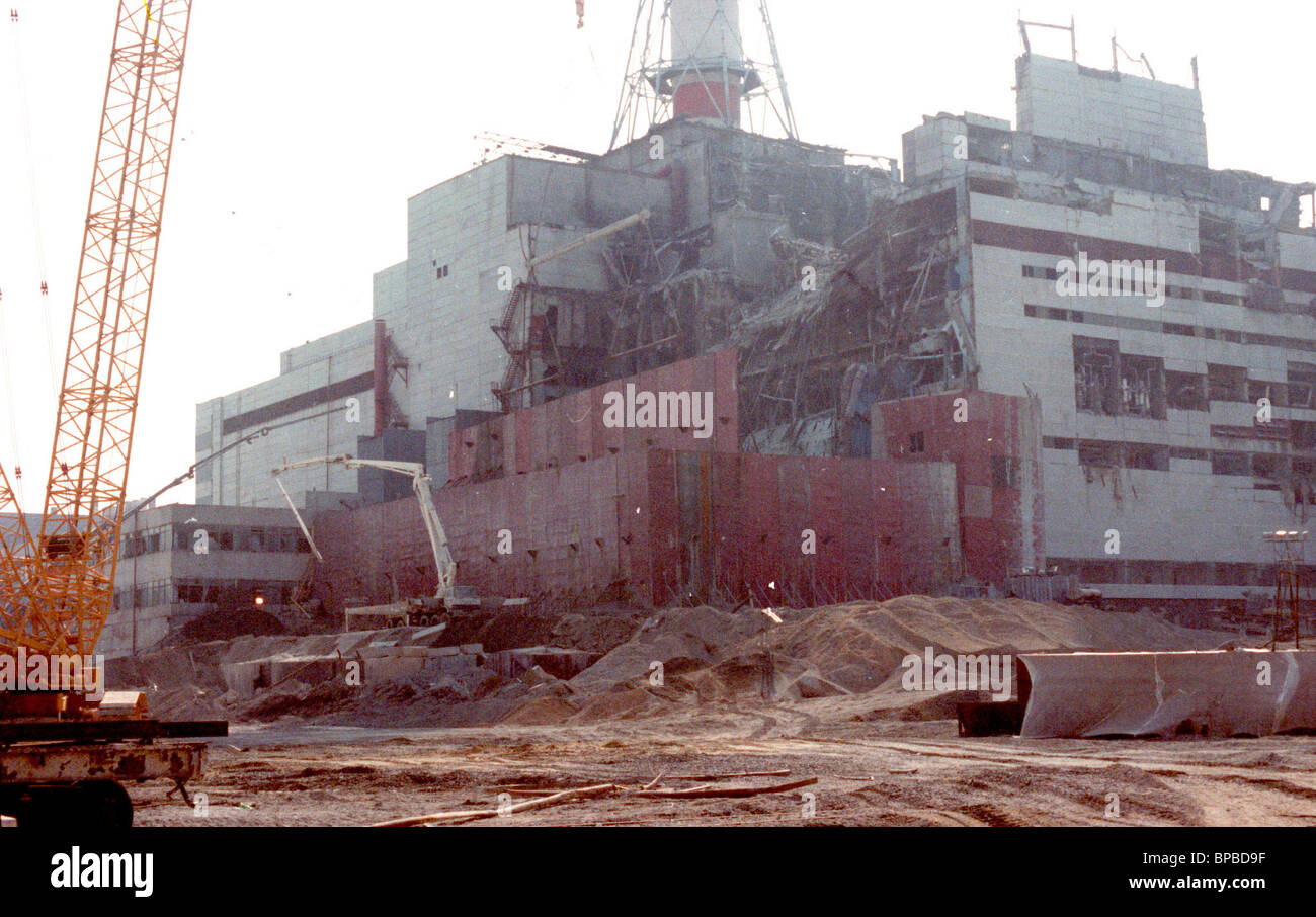 File picture of the Chernobyl N-plant 4th power unit - Stock Image