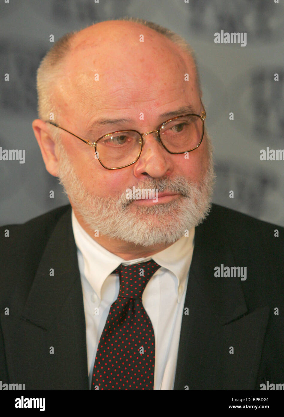Famous American voice teacher Seth Riggs visits ITAR-TASS for a news conference - Stock Image