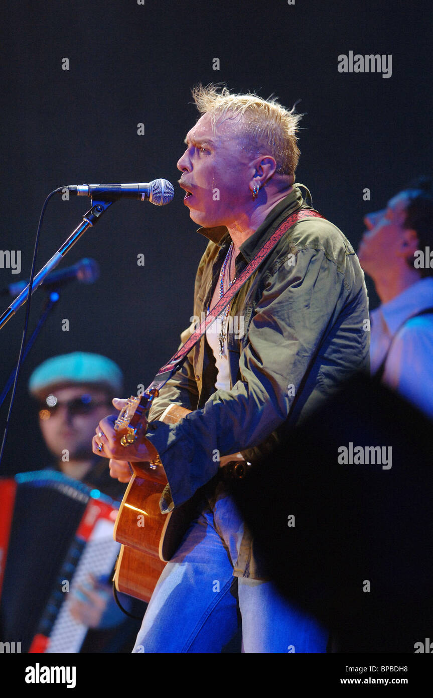 Pop-singer Garik Sukachev and 'Untouchable' band give a concert in Moscow - Stock Image