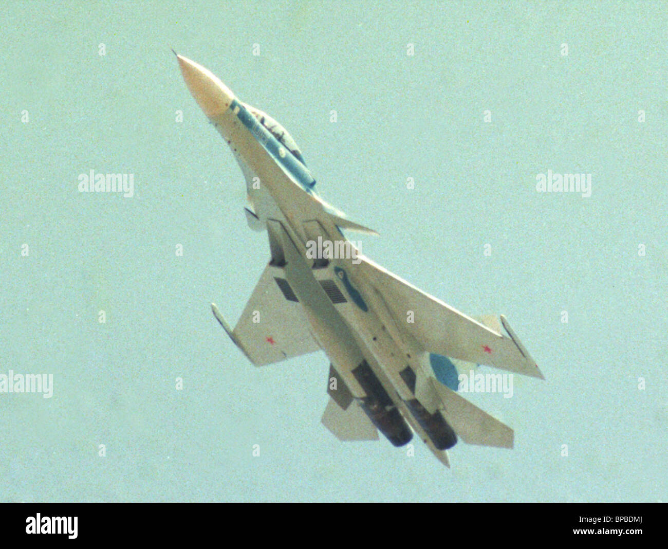 the newest multi-functional SU-30MK fighter - Stock Image