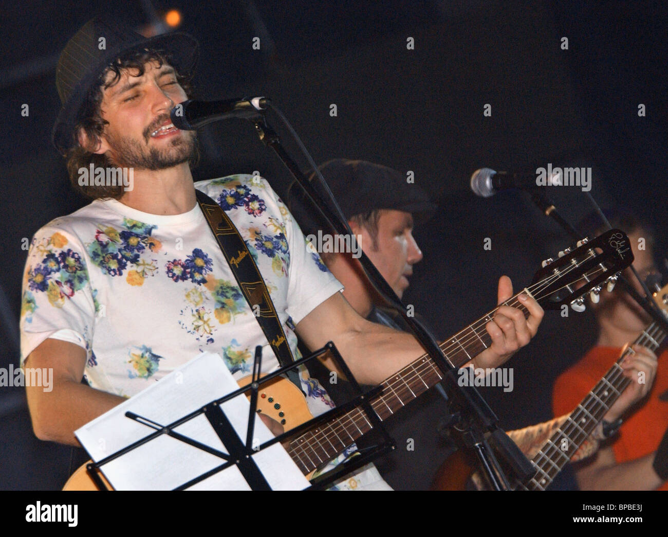 Pop group Umaturman gives concert in Moscow Stock Photo