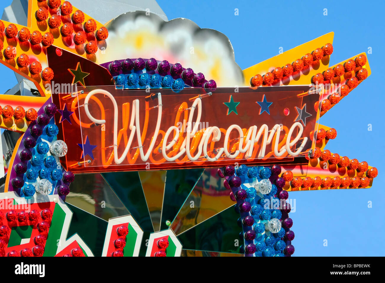 welcome sign - Stock Image