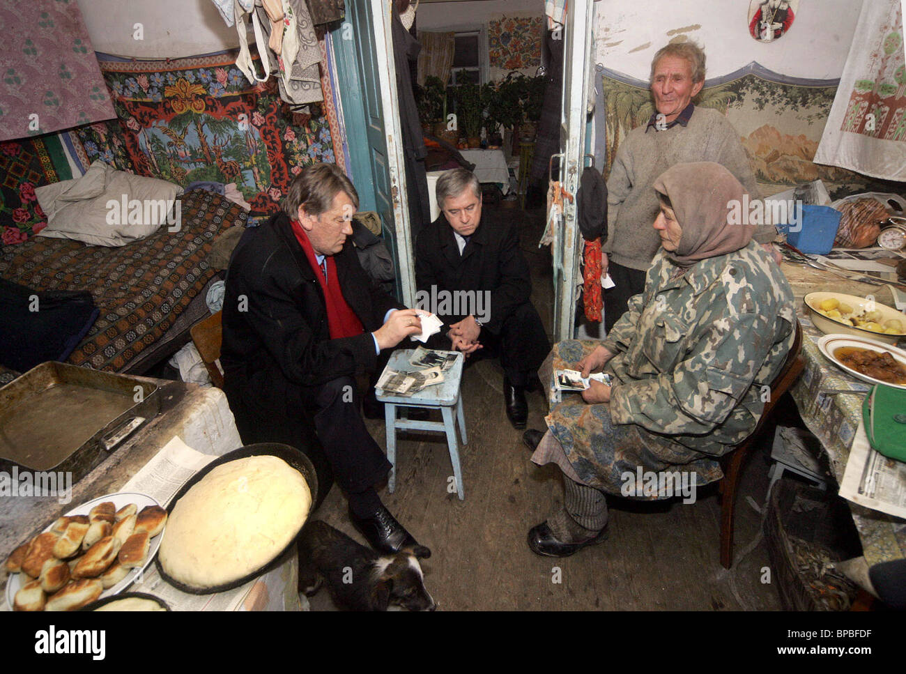 Ukrainian President visits exclusion zone of Chernobyl Nuclear Power Station - Stock Image
