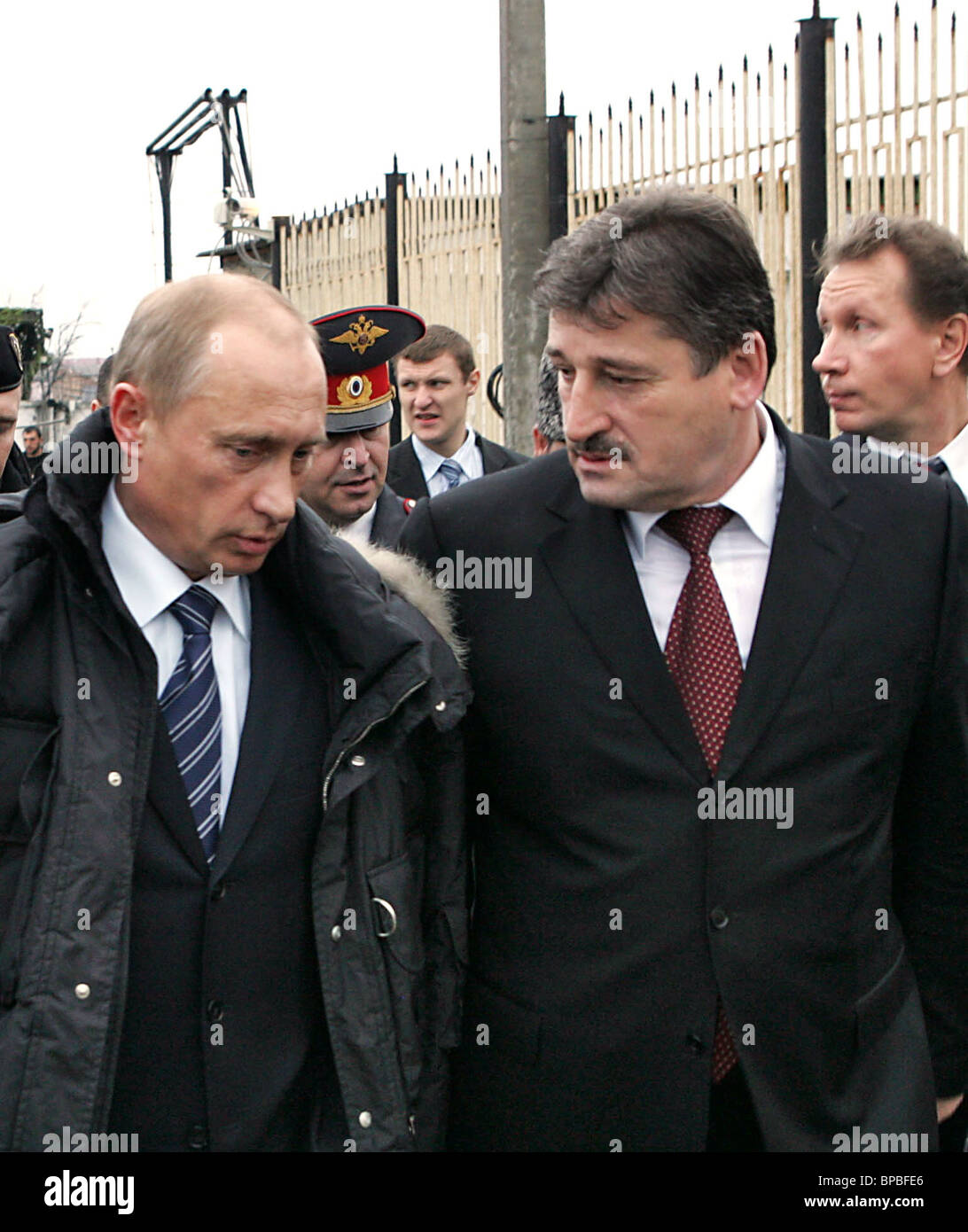 Russian President appears at first sitting of re-elected Chechen Parliament - Stock Image