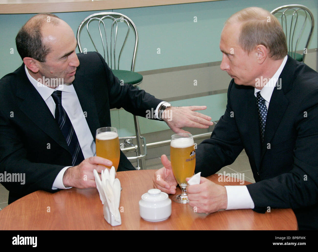 Russian President Vladimir Putin holds a number of meetings December 16, 2005 Stock Photo