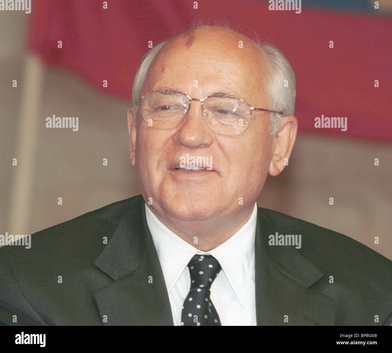Leader of Russian United Social Democratic Party Mikhail Gorbachev - Stock Image