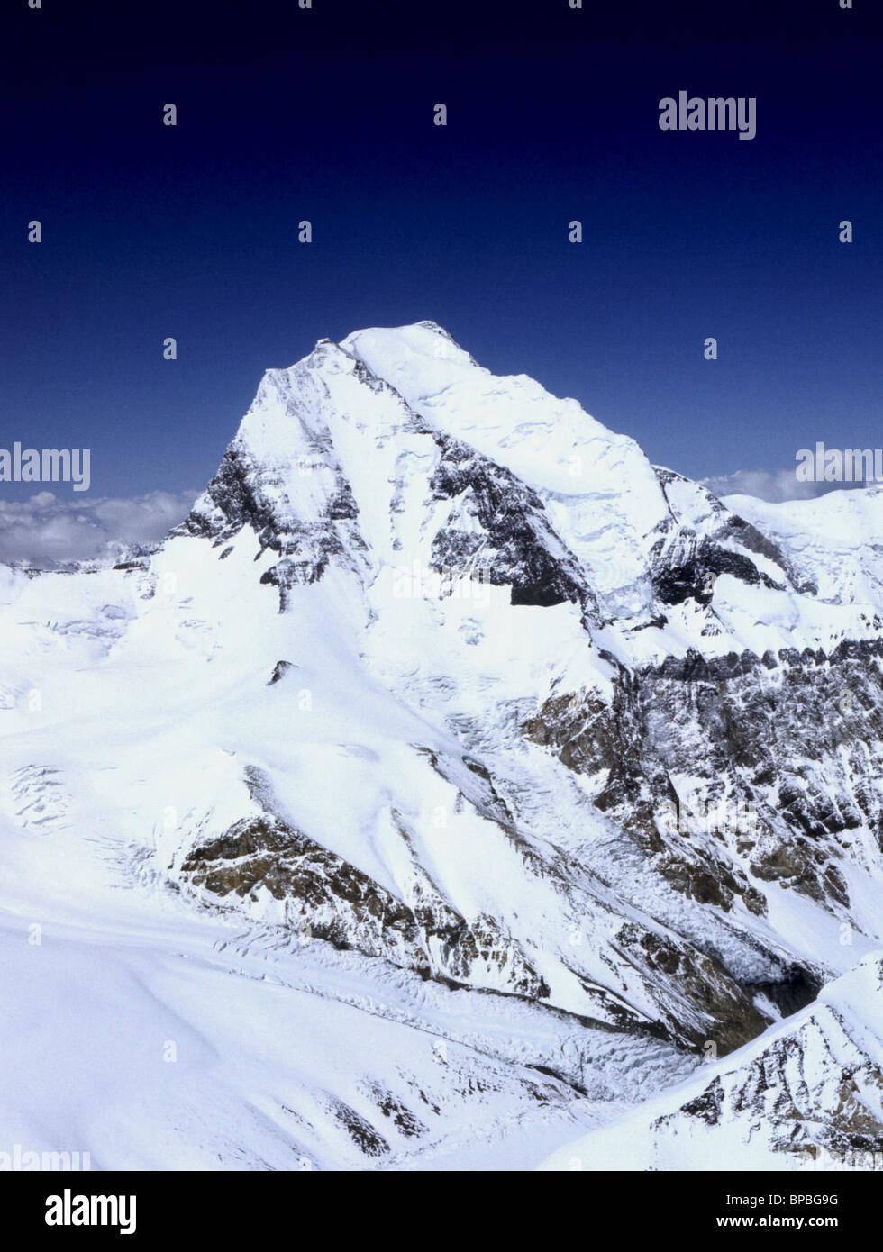 Ismoil Somoni Peak, former Peak of Communism in the Pamirs - Stock Image
