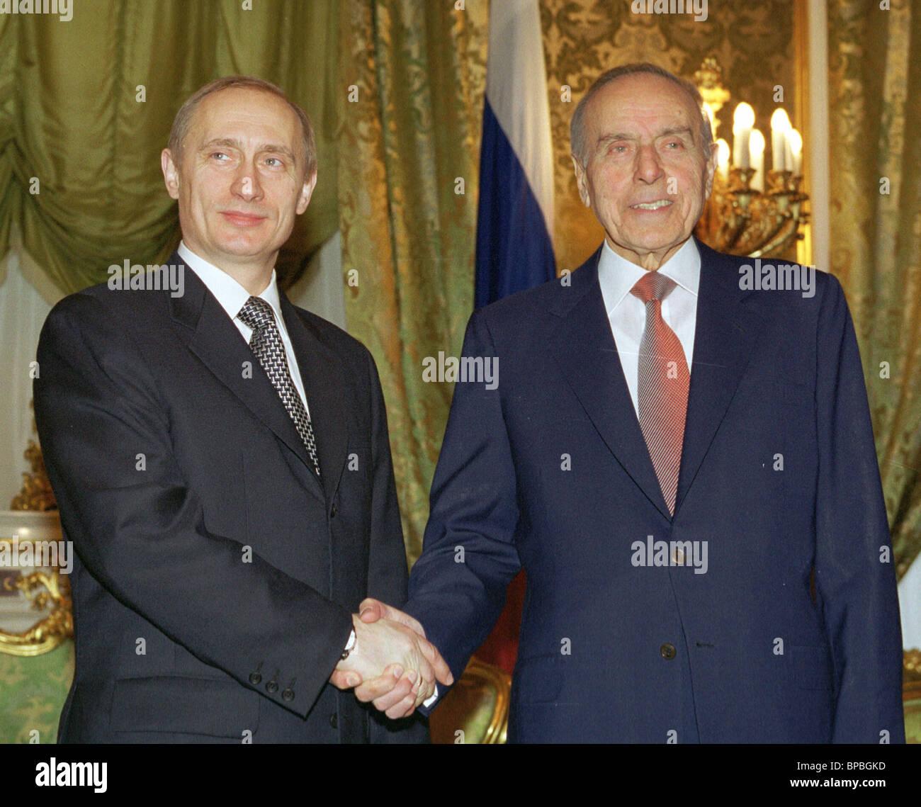 Russia, Azerbaijan presidents meet for talks - Stock Image