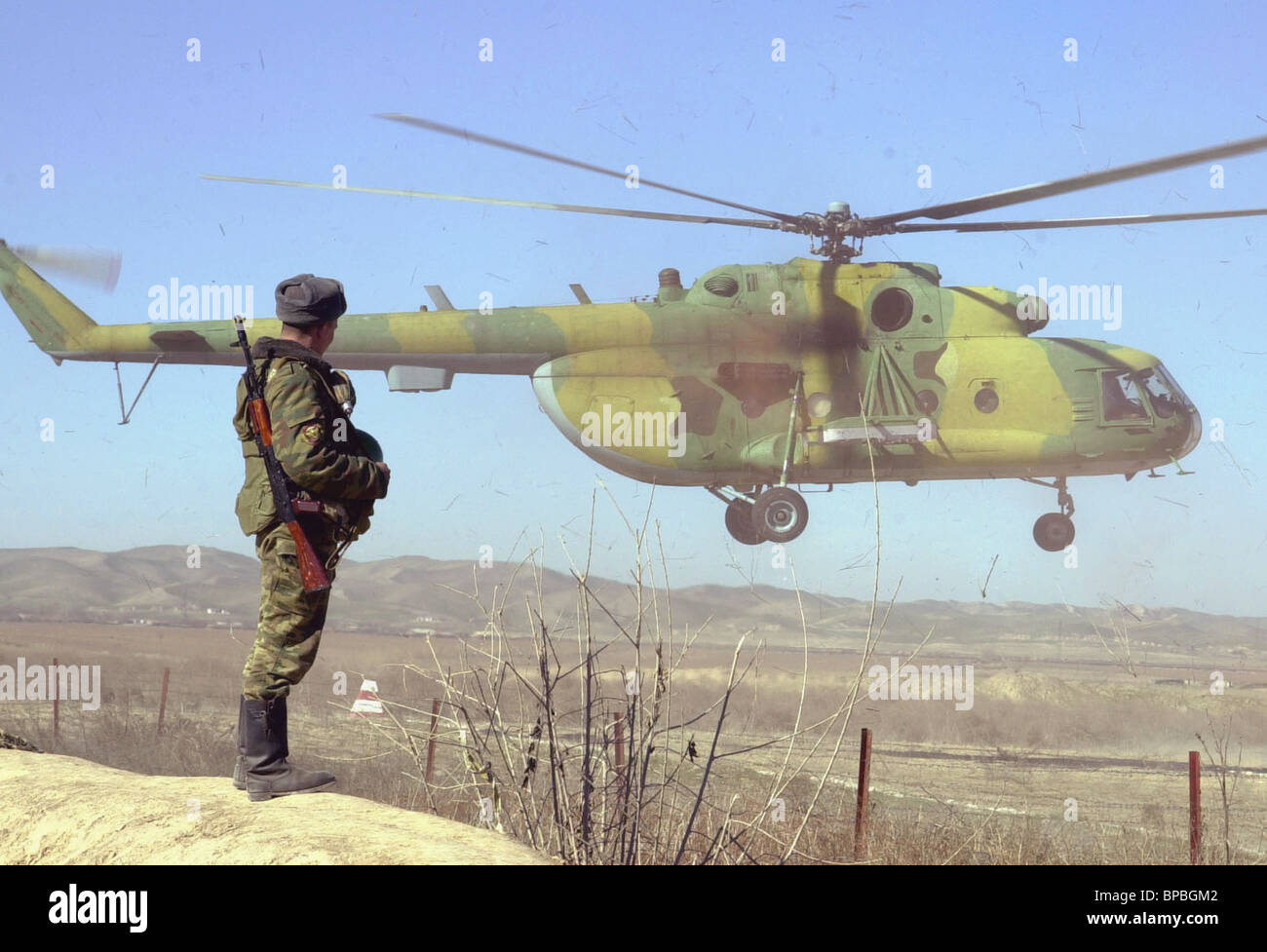 Russian motorized rifle division N 201 stationed in Tajikistan is acknowledged best in system of Russian Defence - Stock Image