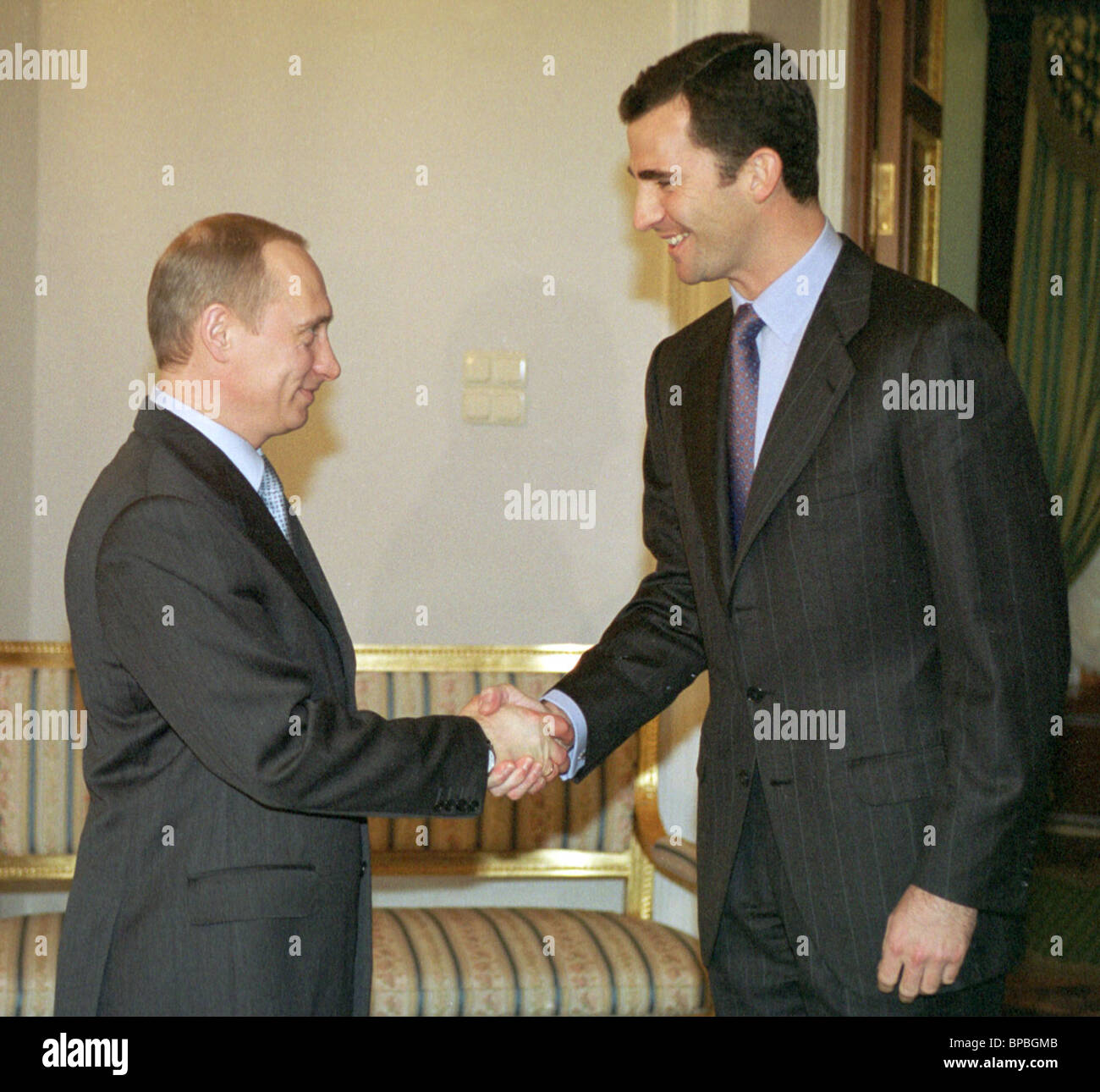 President Putin received Crown Prince Felipe of Spain - Stock Image