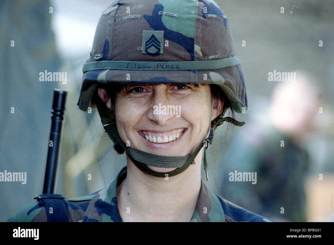U.S. army female officer Leah Filzow-Peres. - Stock Image