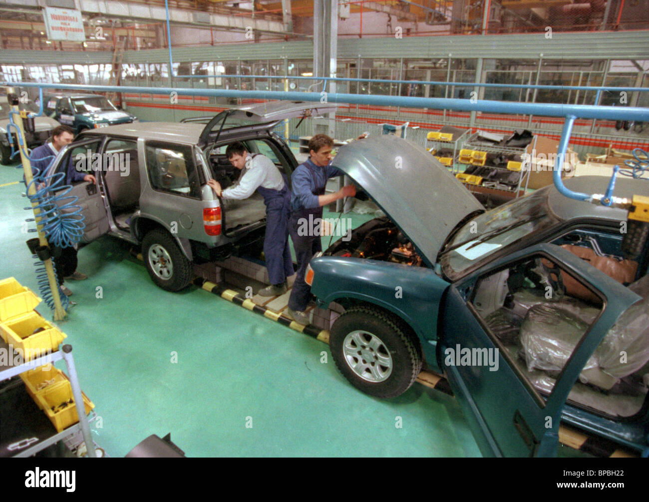 car production line - Stock Image