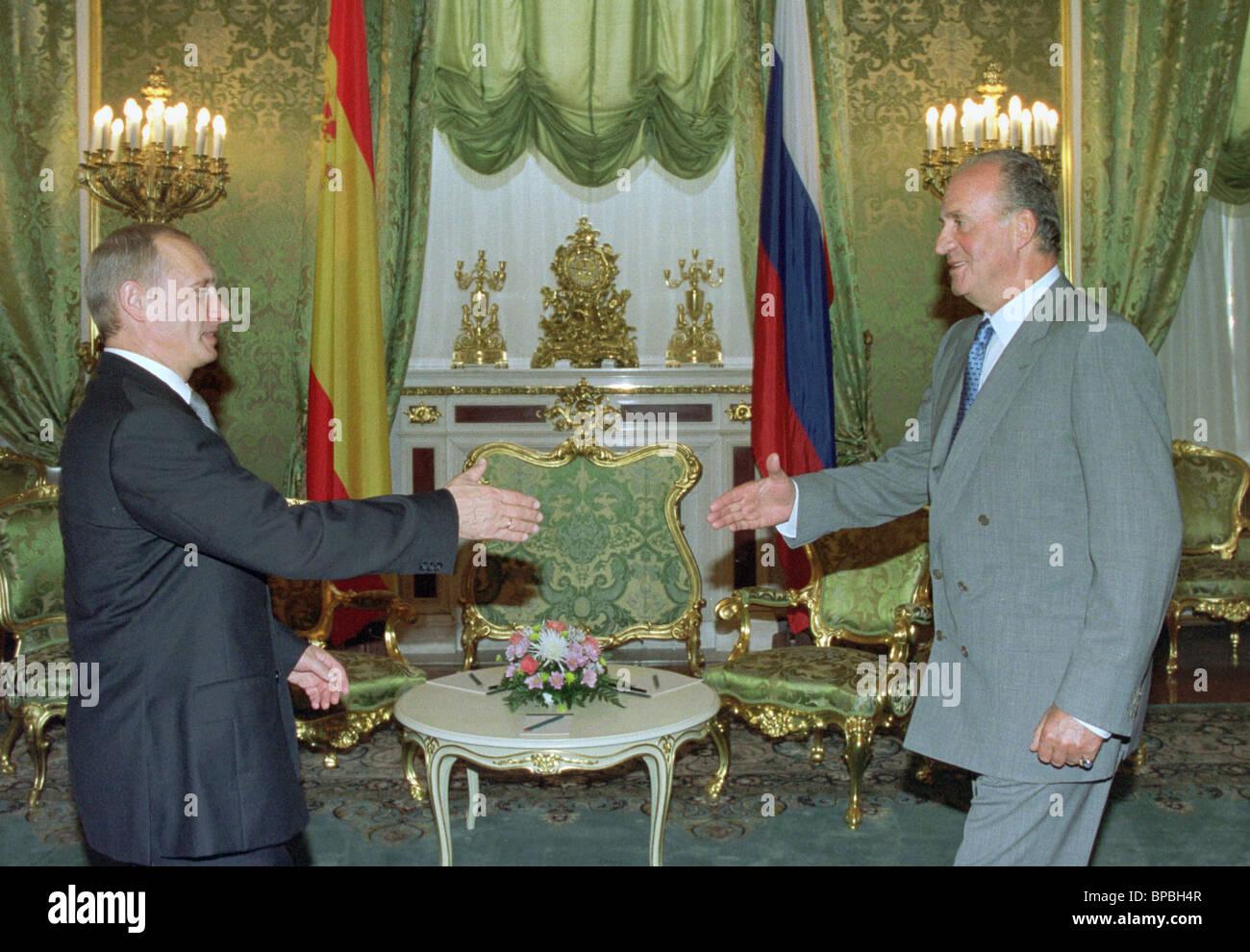 President Putin meets with King Juan Carlos I of Spain - Stock Image