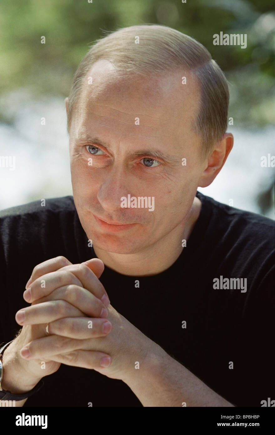 Towards President Putin's jubilee - Stock Image