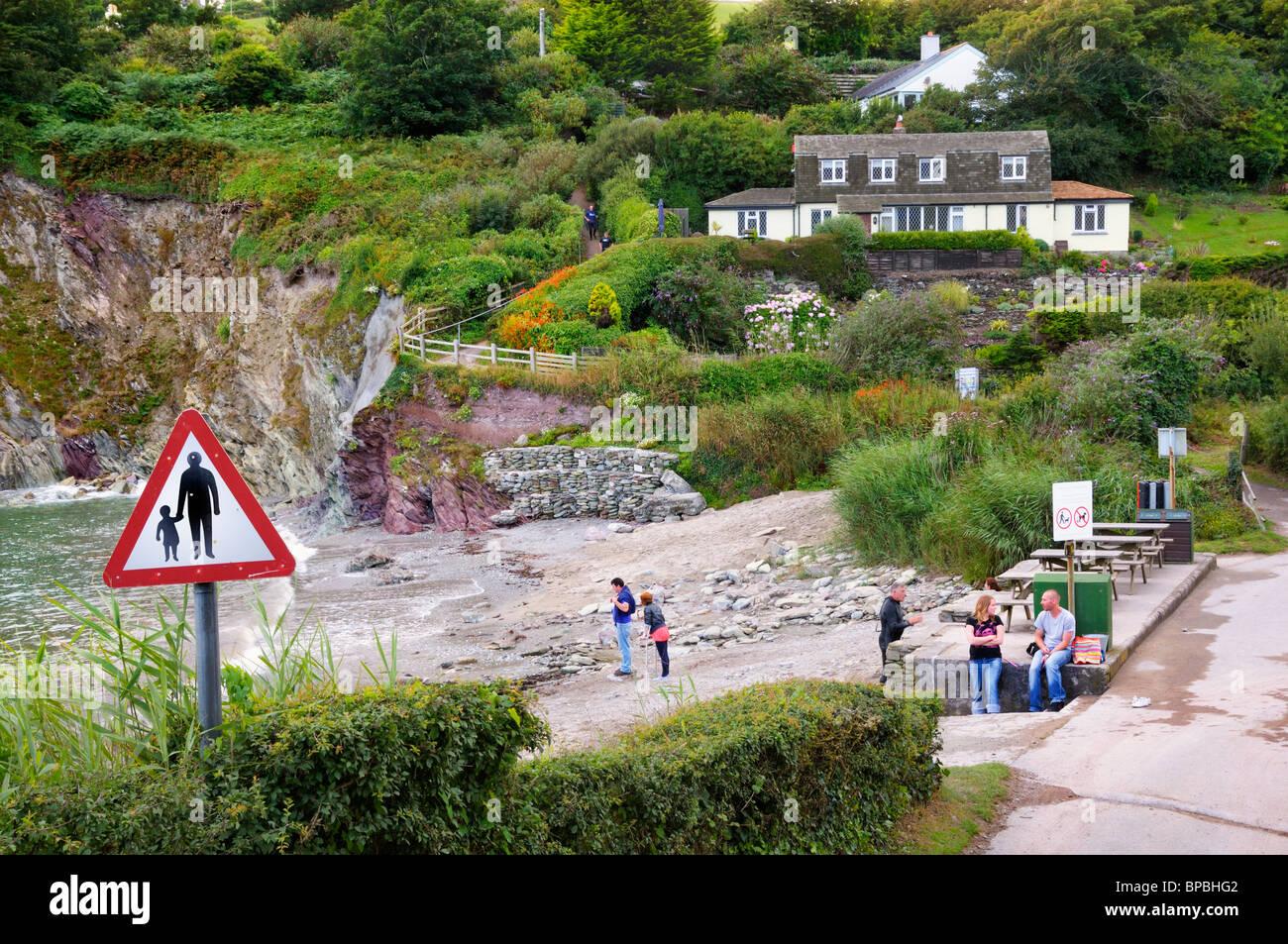 Talland Bay, Cornwall, UK - Stock Image