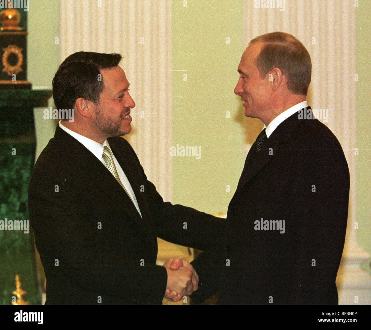 Meeting of President Putin with King of Jordan Abdullah II - Stock Image