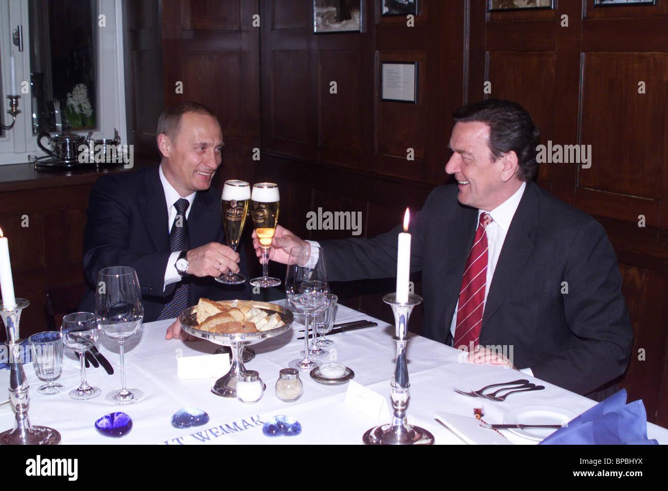 President Putin met with Chancellor Schroeder in Weimar - Stock Image