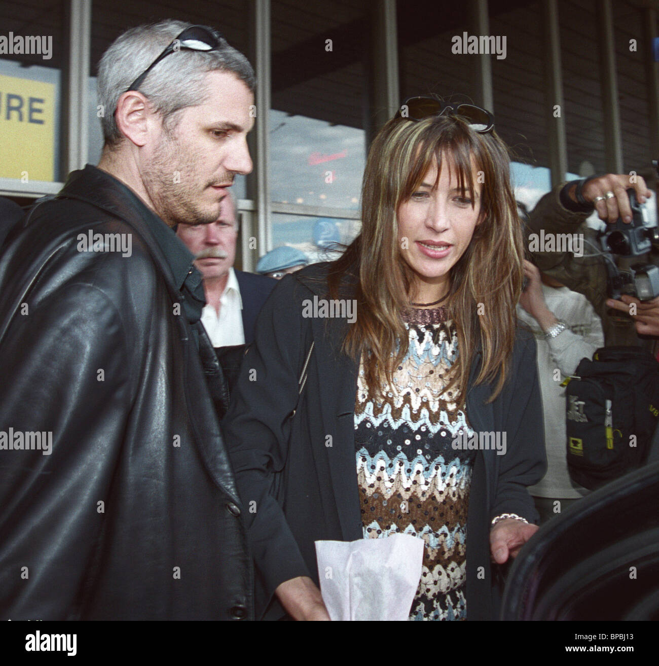 French actress Sophie Marceau arrived in Moscow as guest of the XXV Moscow Film Festival. - Stock Image