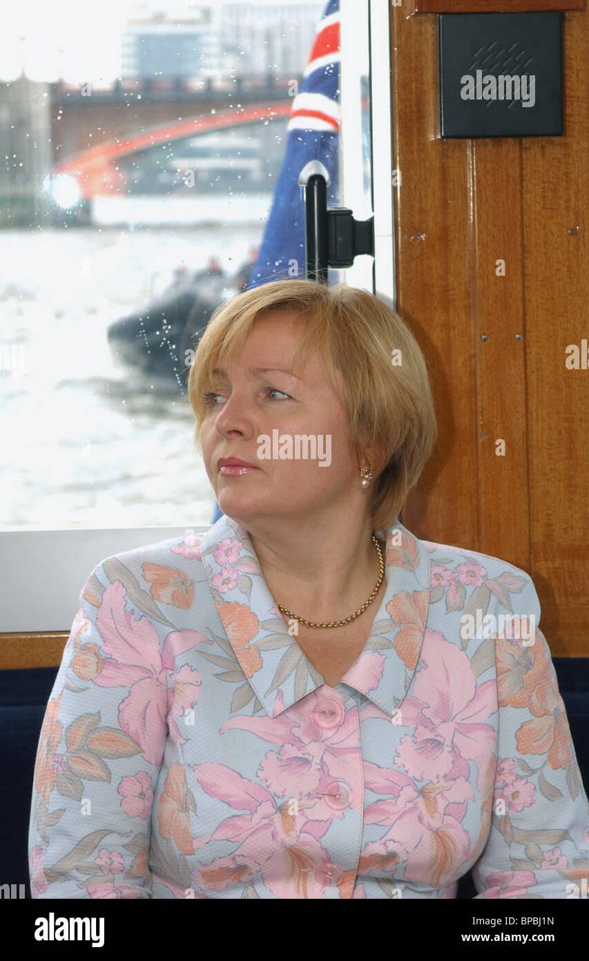 Lyudmila Putin, wife of Russian President in London - Stock Image
