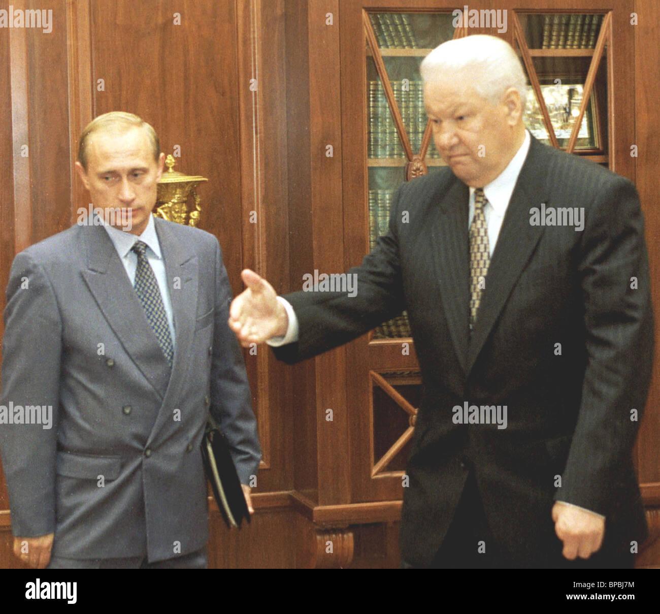 Yeltsin and Vladimir Putin - Stock Image