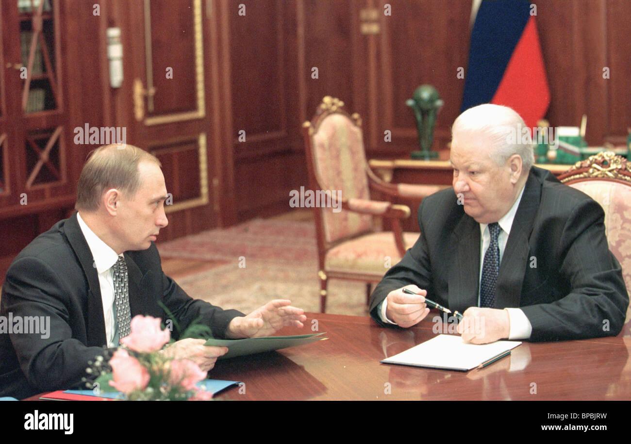 Yeltsin-Putin - Stock Image