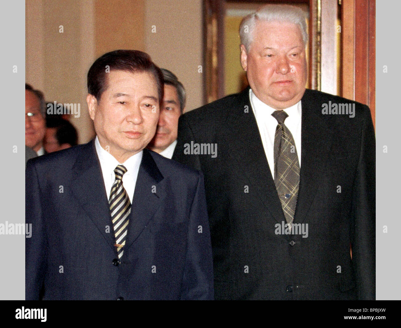 Yeltsin and Kin Dae Jung - Stock Image