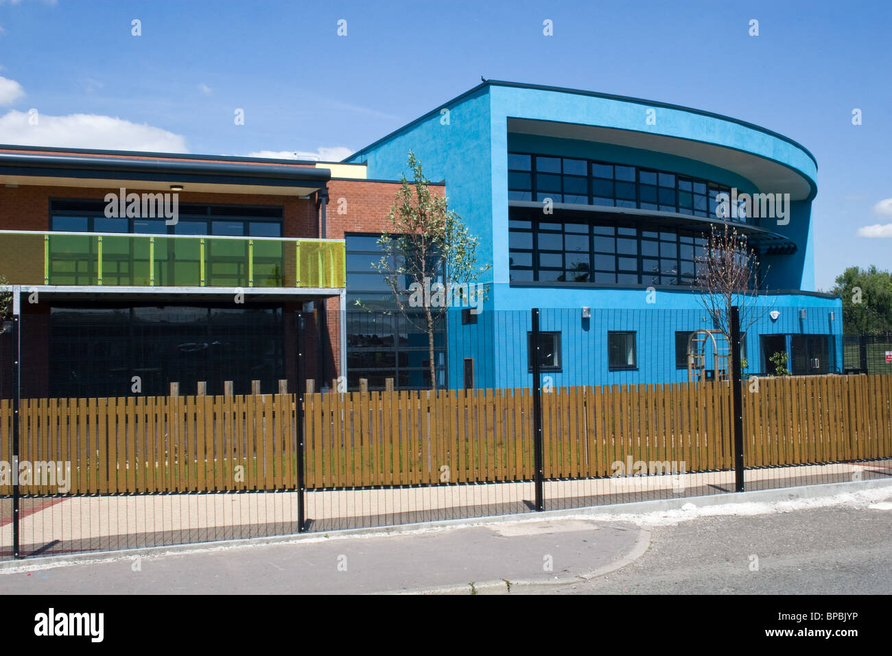 New Willow Tree Primary School, Seedley/ Langworthy area of Salford, Greater Manchester, UK - Stock Image