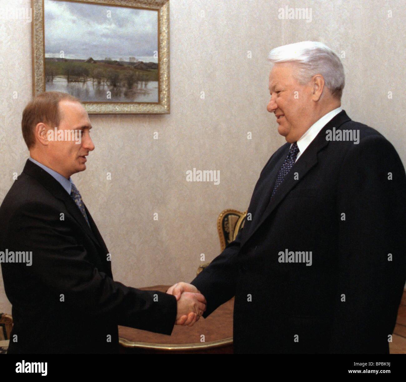 Yeltsin -- Putin meeting - Stock Image