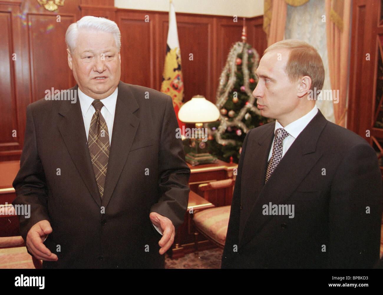 Yeltsin meets Putin in the Kremlin - Stock Image