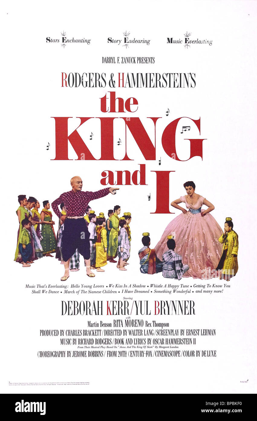 FILM POSTER THE KING AND I (1956) - Stock Image