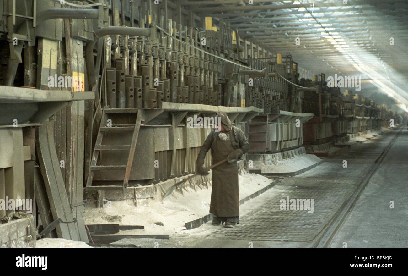 the Krasnoyarsk Aluminium Plant - Stock Image