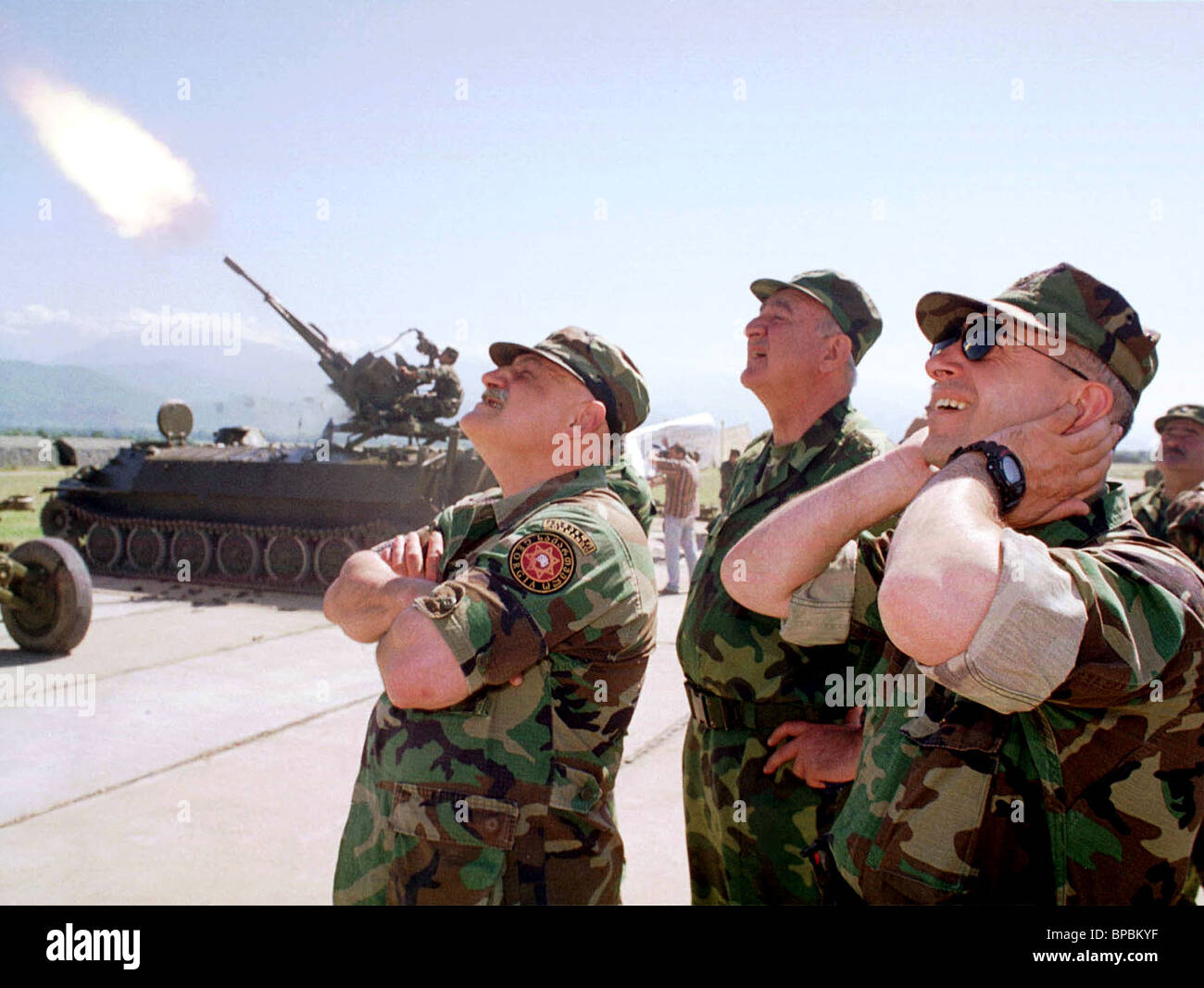 Military exercises of the Georgian Eastern Body of Troops - Stock Image