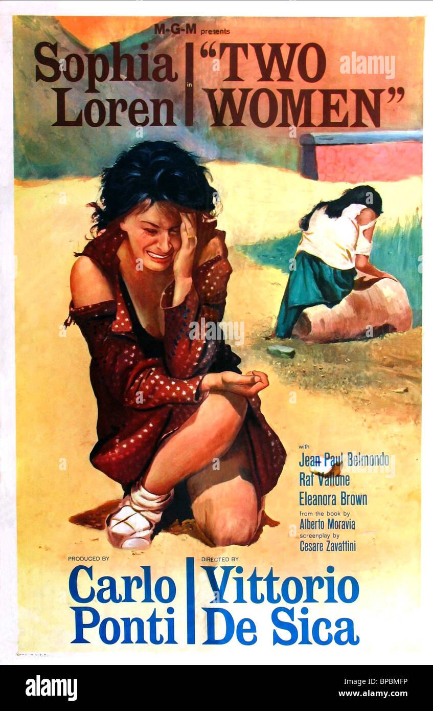 sophia loren poster two women la ciociara 1960 stock