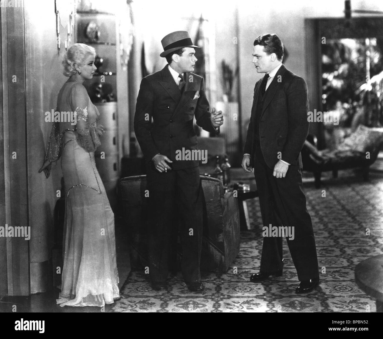 JEAN HARLOW, JAMES CAGNEY, EDWARD WOODS, THE PUBLIC ENEMY, 1931 - Stock Image