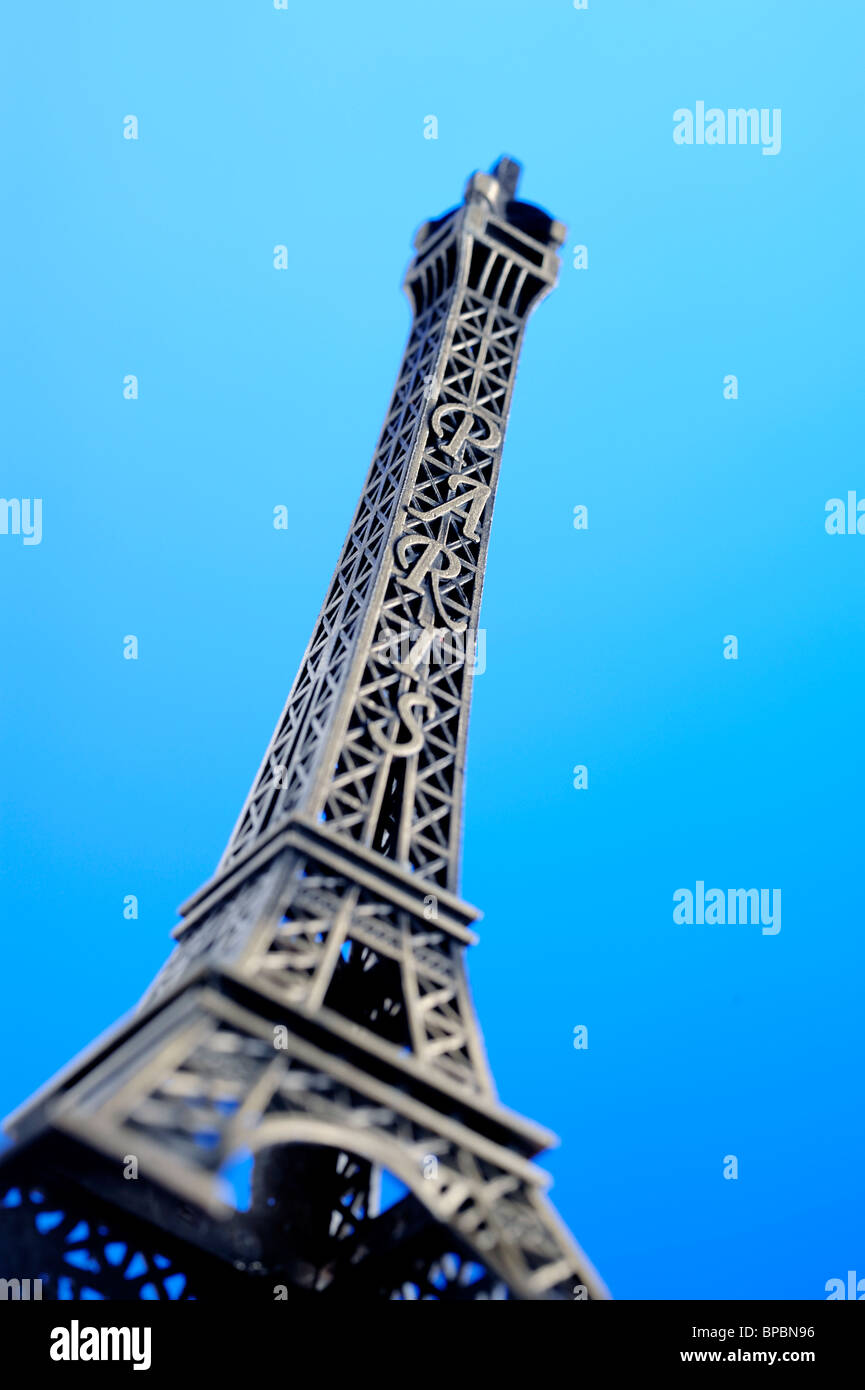 Toy miniature Eiffel Tower - Stock Image