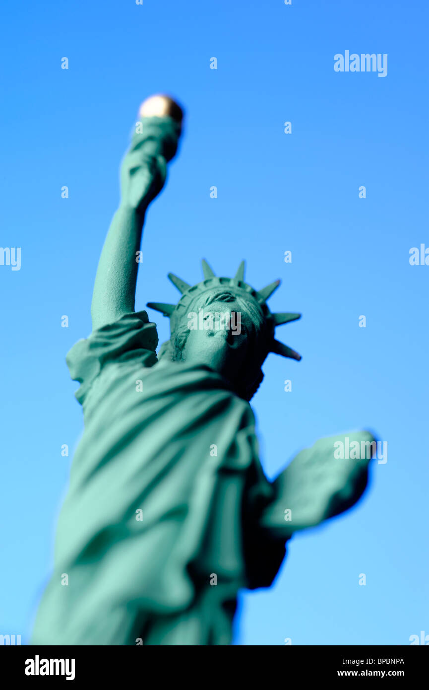 Toy miniature Statue of Liberty - Stock Image