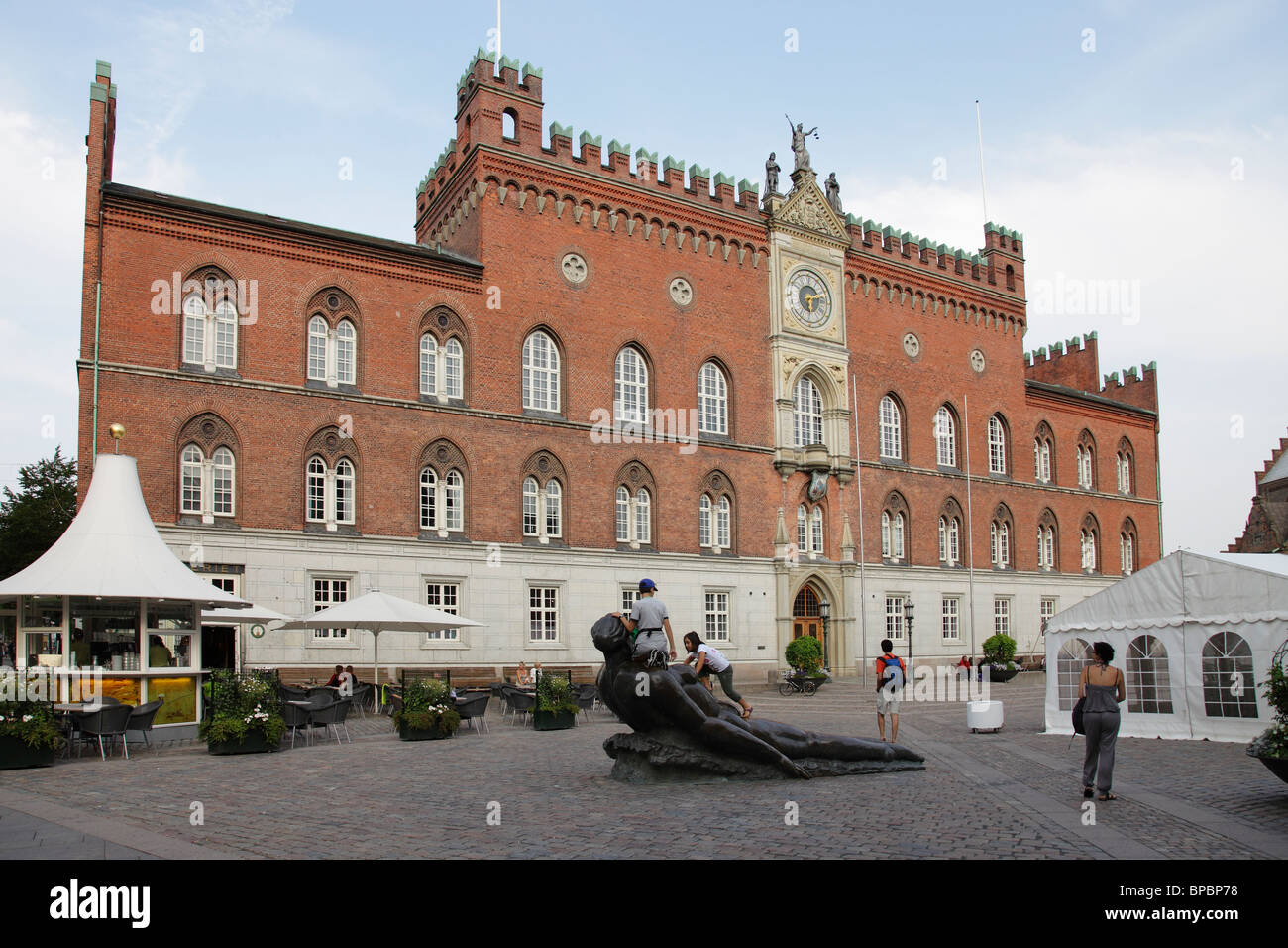 city hall in Odense Stock Photo