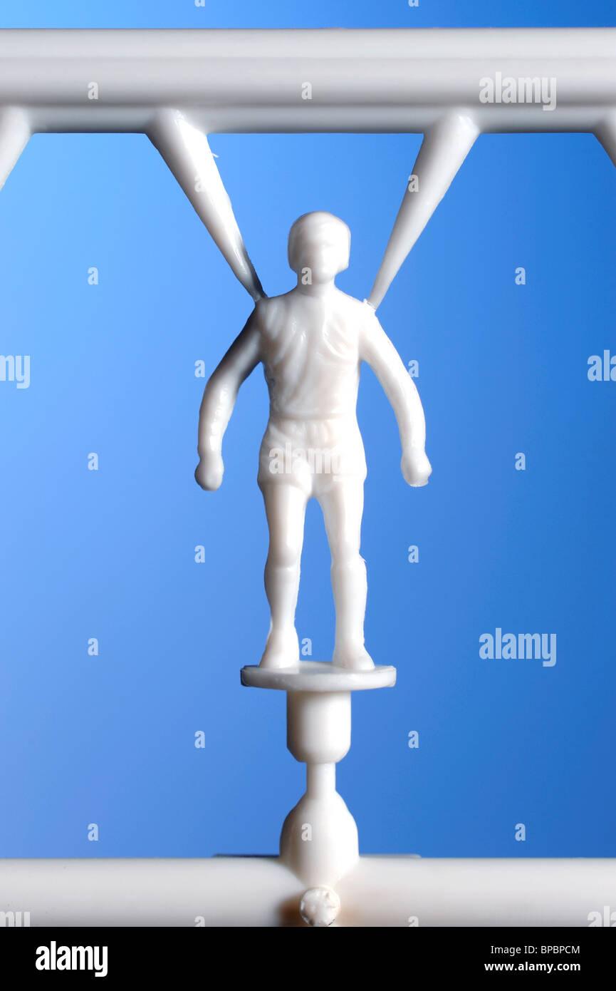 Plastic footballer Stock Photo