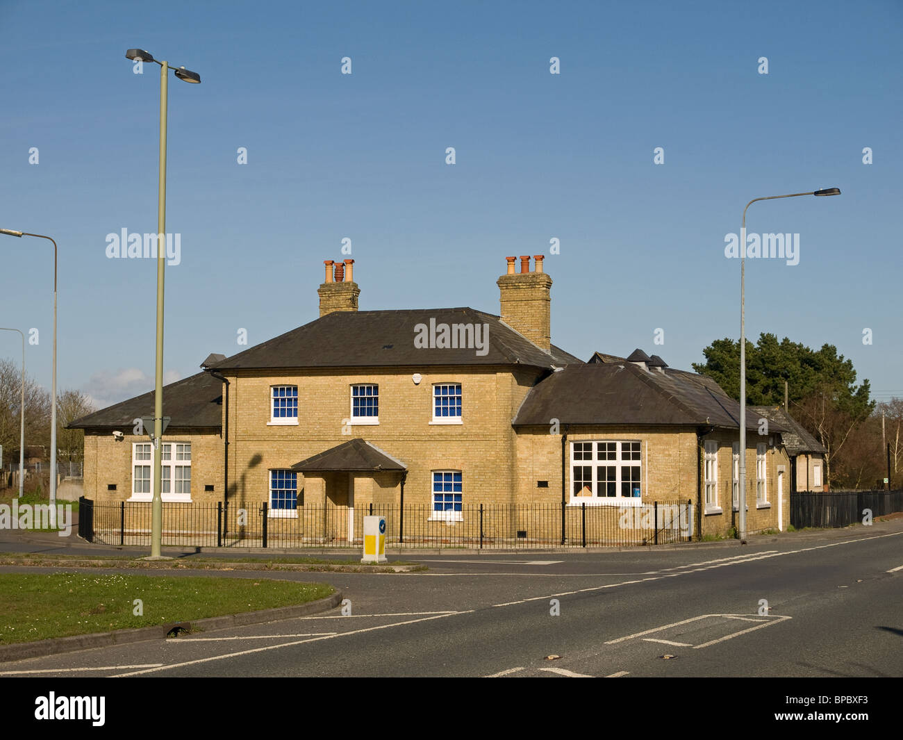 Fawley Old Infants Schoolhouse Hampshire England UK, a grade II listed building now used as a commercial property. - Stock Image