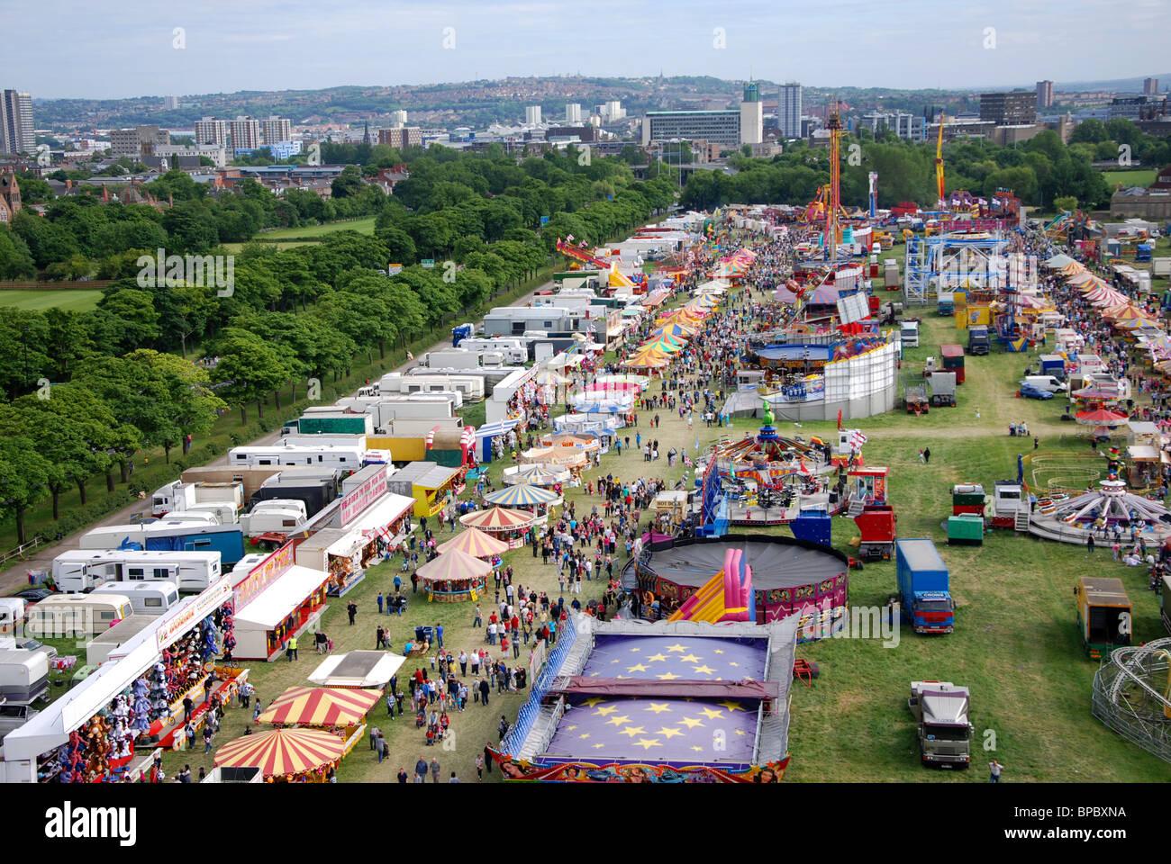 The Hoppings Fairground Newcastle Upon Tyne United Kingdom ...