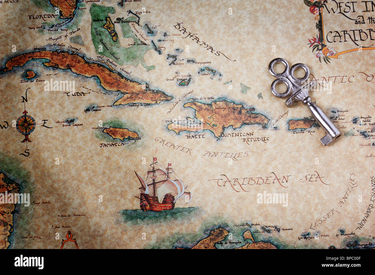 Treasure Map - Stock Image