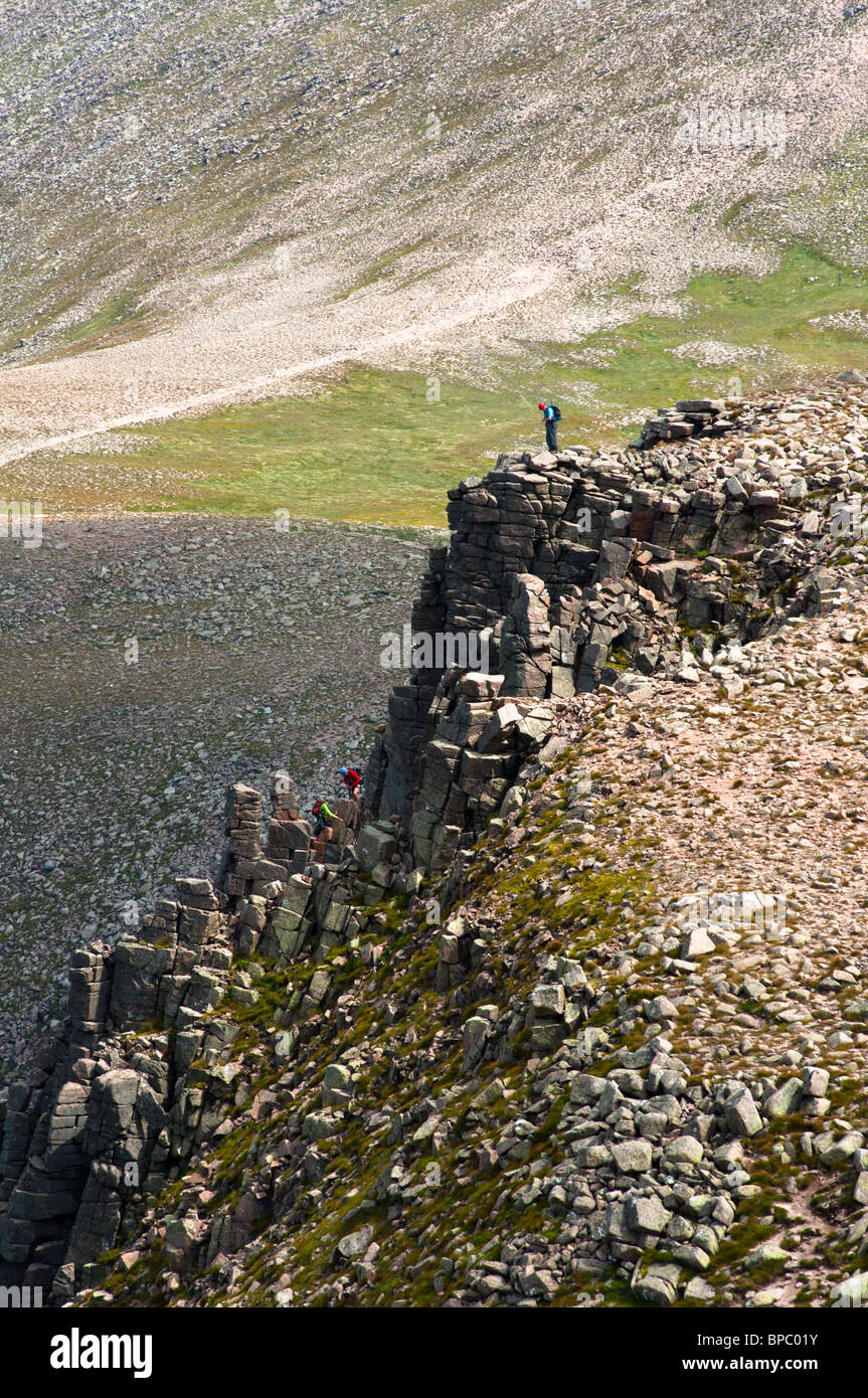 Climbers in the Cairngorms in Scotland - Stock Image