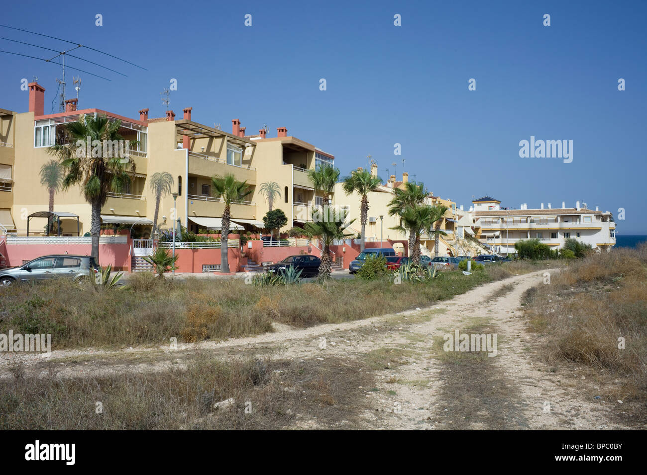 Photograph of an urbanisation in Torrevieja, Spain. - Stock Image