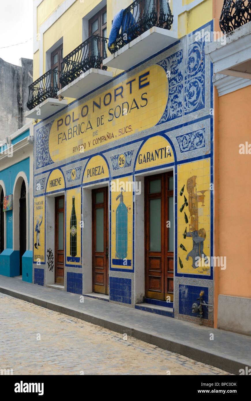Fabrica Polo Norte store front, Old San Juan, Puerto Rico - Stock Image