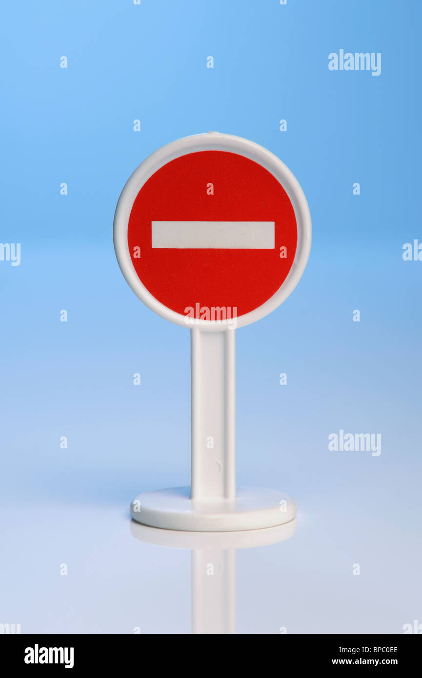 Toy Stop sign - Stock Image